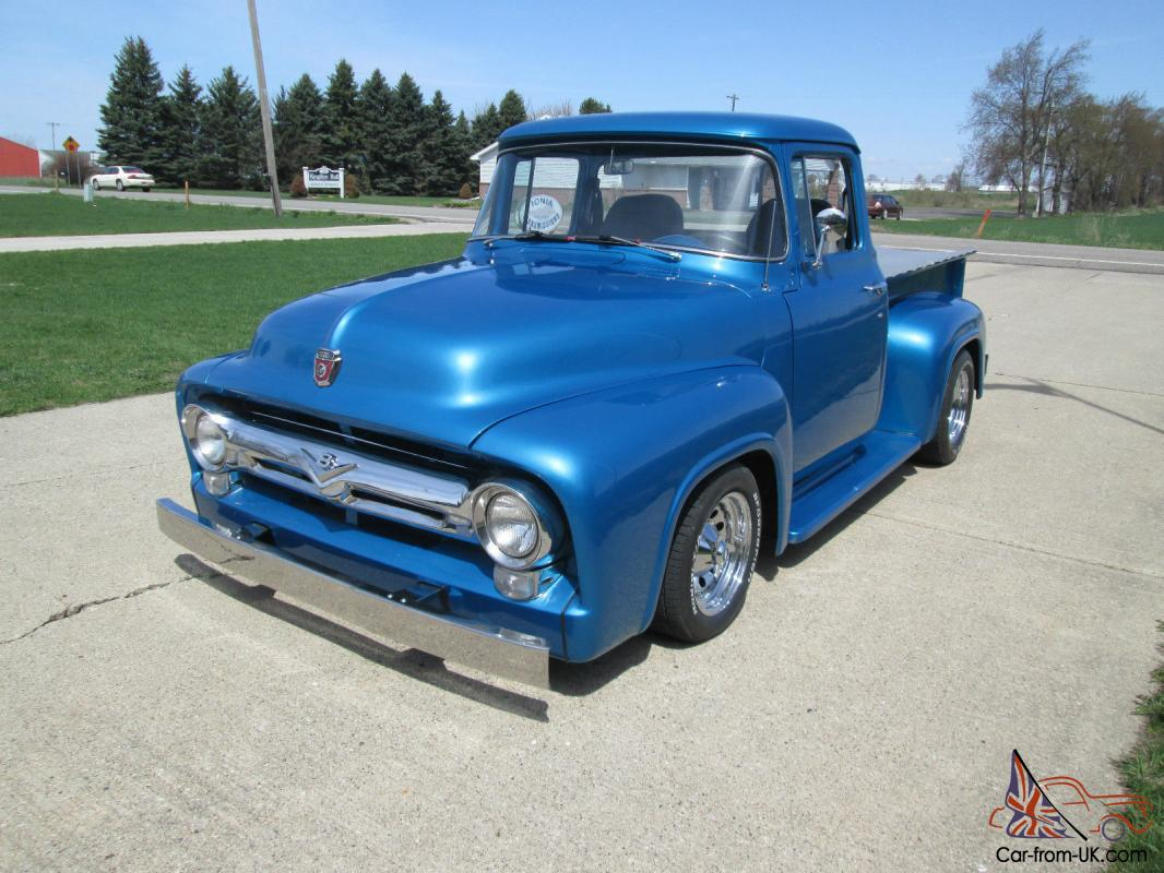 1956 f 100 ford big window truck custom cab. Black Bedroom Furniture Sets. Home Design Ideas