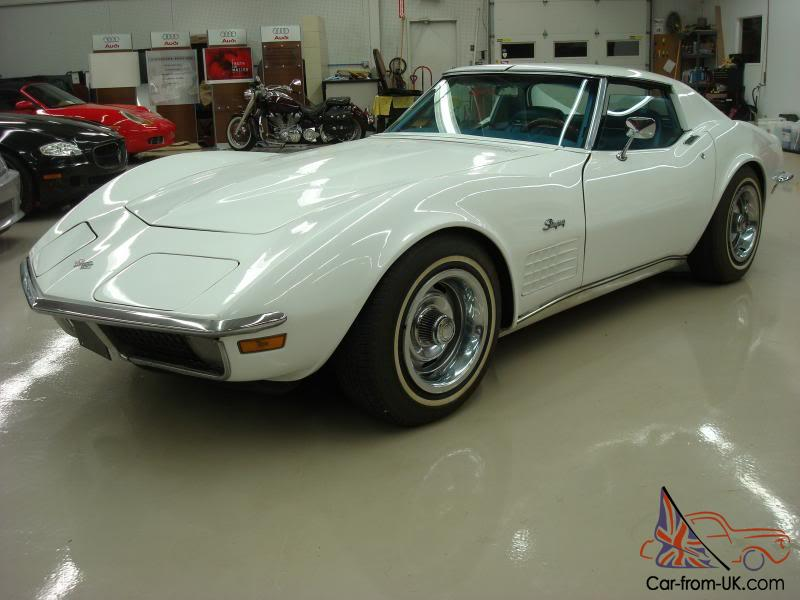 1970 Corvette Coupe 1 Owner White 350 300 Horse Numbers Matching Nice Auto A C