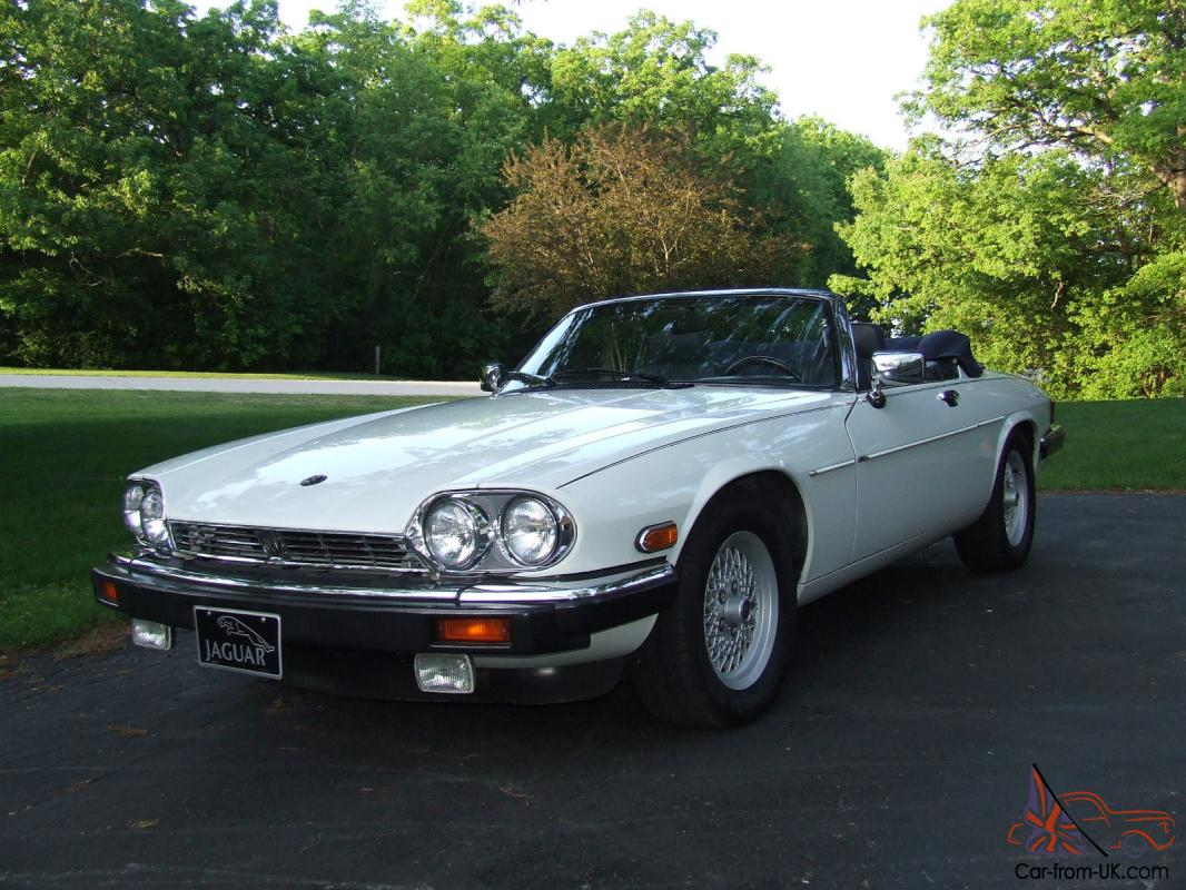 1989 jaguar xjs v12 convertible 2 door 5 3l white great. Black Bedroom Furniture Sets. Home Design Ideas