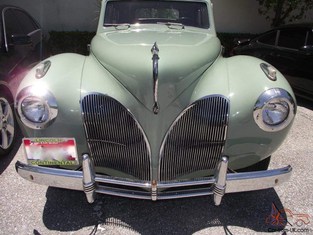 1941 Lincoln Continental Coupe Mint Green Town Car