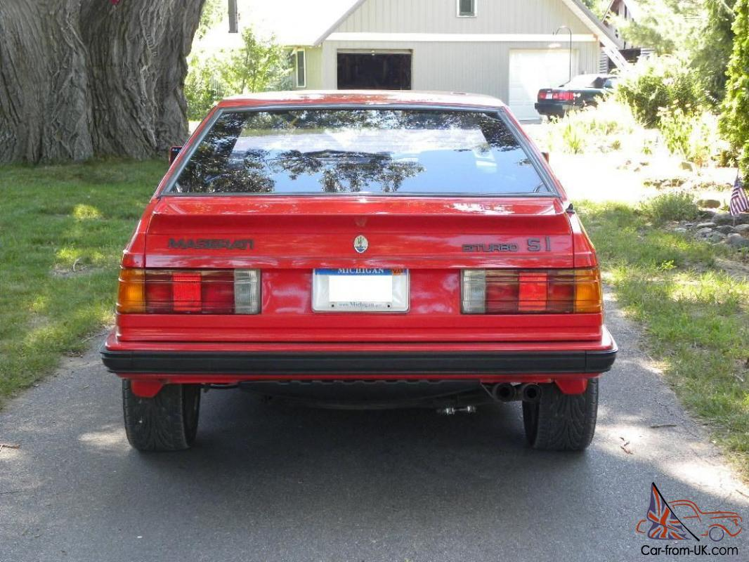 1987 maserati biturbo si 5 speed all services completed excellent. Black Bedroom Furniture Sets. Home Design Ideas