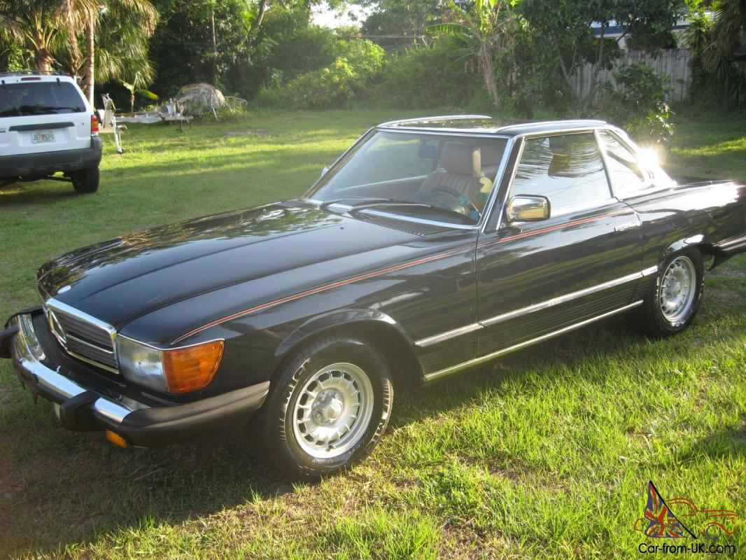 1984 mercedes benz 380 sl convertible dark blue. Black Bedroom Furniture Sets. Home Design Ideas