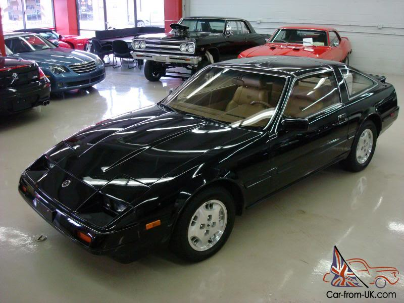 1984 Nissan Datsun 300 ZX black tan leather 5 speed T ...