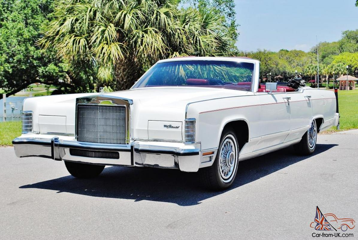 1owner Just 11 349 Miles 1978 Lincoln Continental Convertible Vry