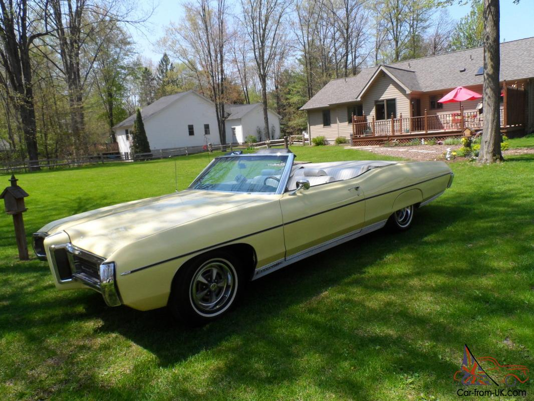 1969 pontiac bonneville convertible 428 mayfair maize with. Black Bedroom Furniture Sets. Home Design Ideas