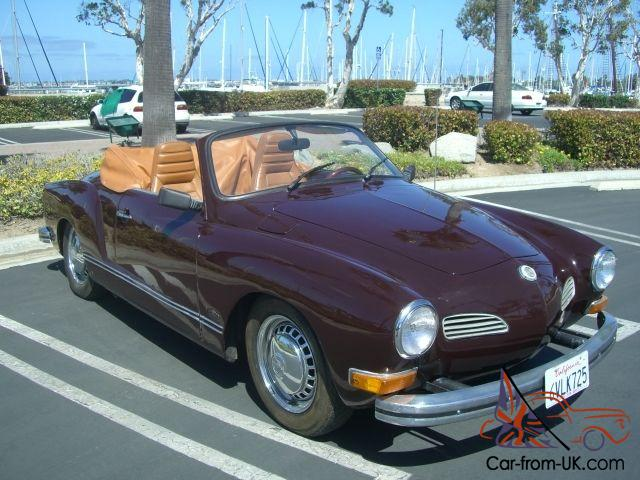 1973 Karmann Ghia Convertible 356 Porsche Engine