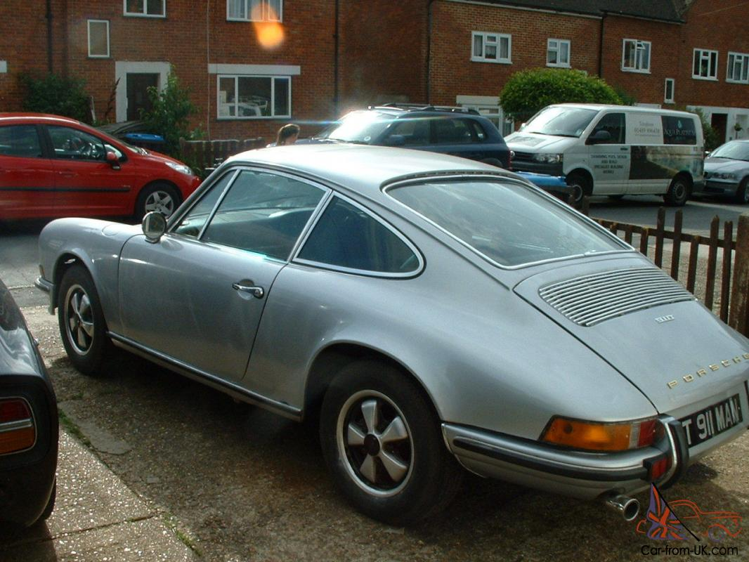 porsche 911t coupe silver easy project rhd matching numbers. Black Bedroom Furniture Sets. Home Design Ideas