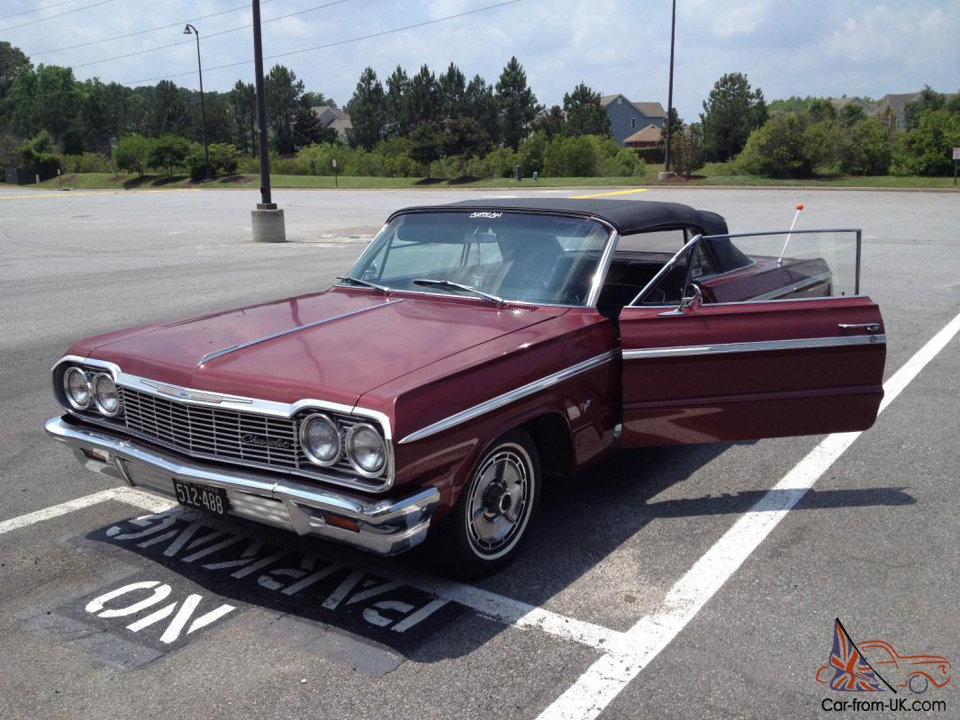 1964 chevy impala ss convertible 2nd owner 51k mileage factory orginial. Black Bedroom Furniture Sets. Home Design Ideas