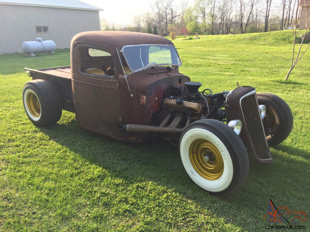 1937 Chevy Pick Up Rat Rod Hot Rod Traditional Custom SCTA