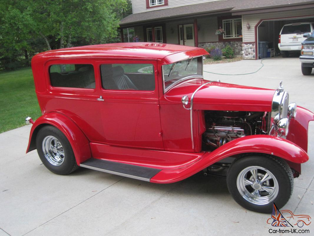 1931 ford model a 2 door sedan all steel body hot rod