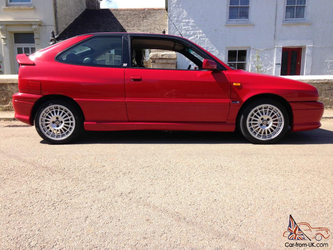 1999 t lhd/left hand drive lancia delta hf hpe turbo bright red just