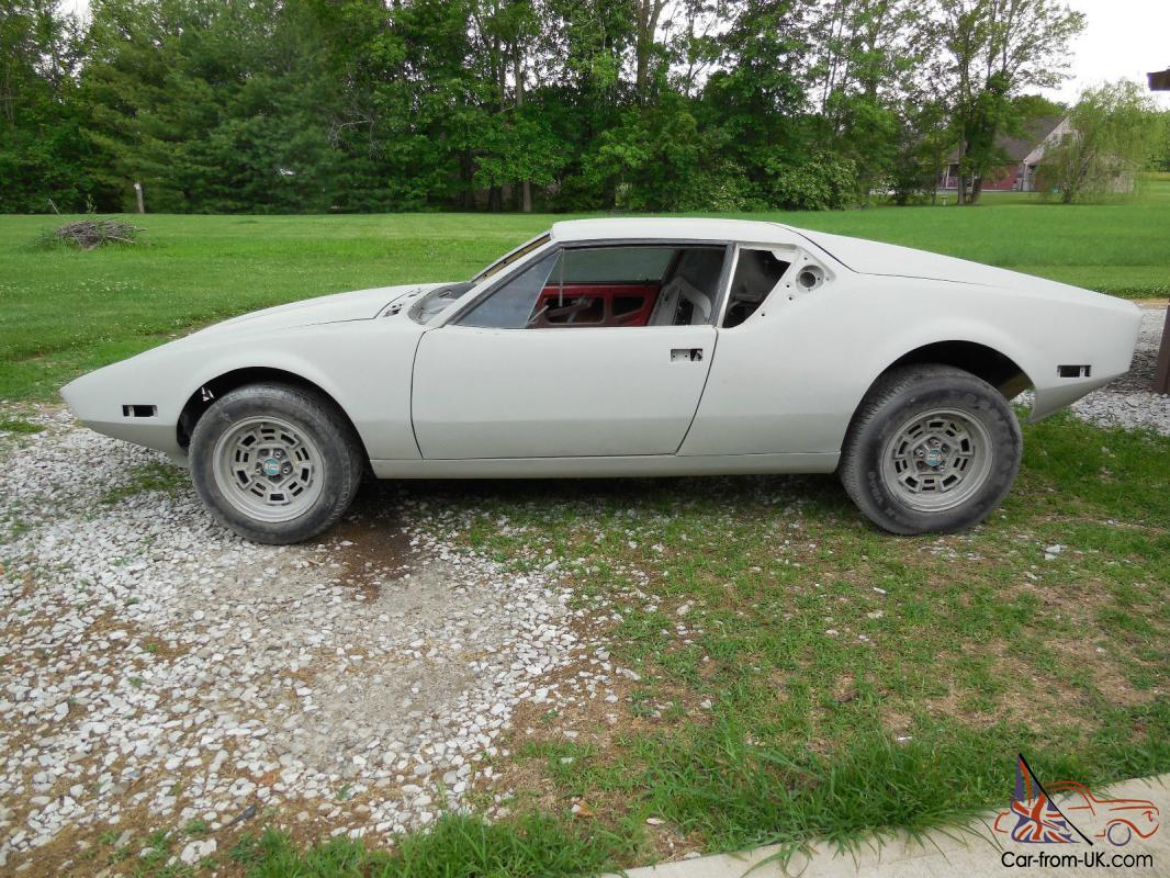 1972 Detomaso Pantera Project Car Ready For Paint Reassembly