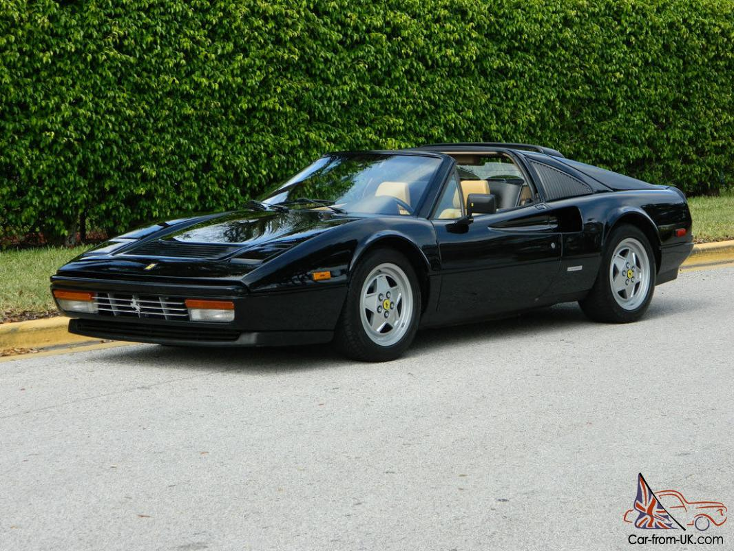 1988 ferrari 328 gts black nero beige tan absolutely gorgeous ice cold a c. Black Bedroom Furniture Sets. Home Design Ideas