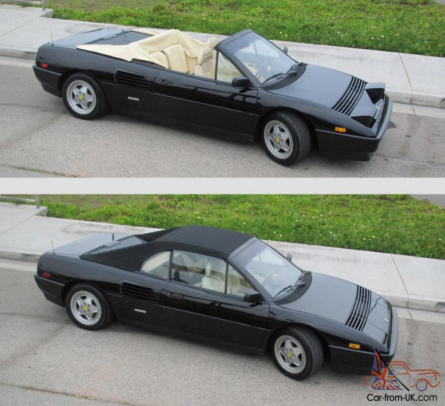 1989 ferrari mondial t cabriolet black creme 31k miles owned for 19 yrs. Black Bedroom Furniture Sets. Home Design Ideas