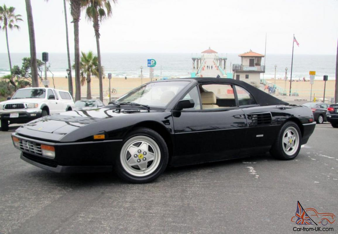 ferrari mondial t black 1989 ferrari mondial t cabriolet black creme 31k miles owned for 19 yrs. Black Bedroom Furniture Sets. Home Design Ideas