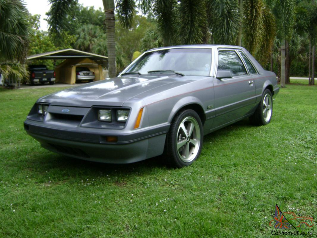 1985 mustang lx notchback coupe 38k original miles mint condition photo