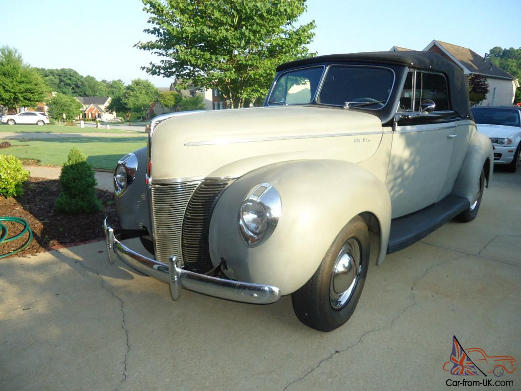 1940 ford all steel body convertible for sale