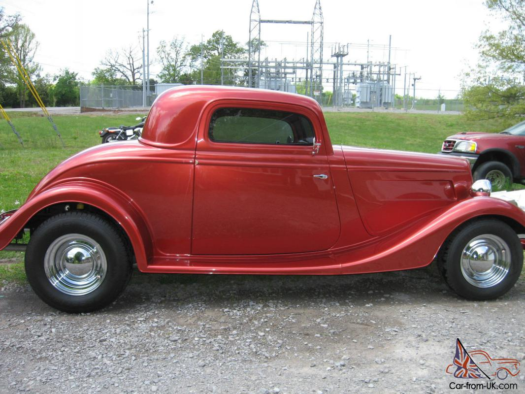 1934 ford coupe 3 window burnt orange in color beautiful for 1934 ford three window coupe for sale