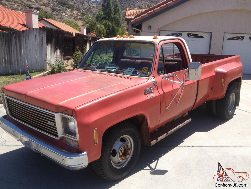 1978 GMC CHEVROLET 1 TON DUALLY 3500 SIERRA GRANDE CAMPER SPECIAL for