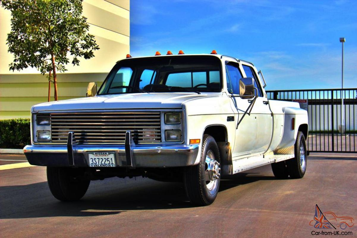 1987 gmc sierra 3500 crew cab dually 1 owner clean certified. Black Bedroom Furniture Sets. Home Design Ideas