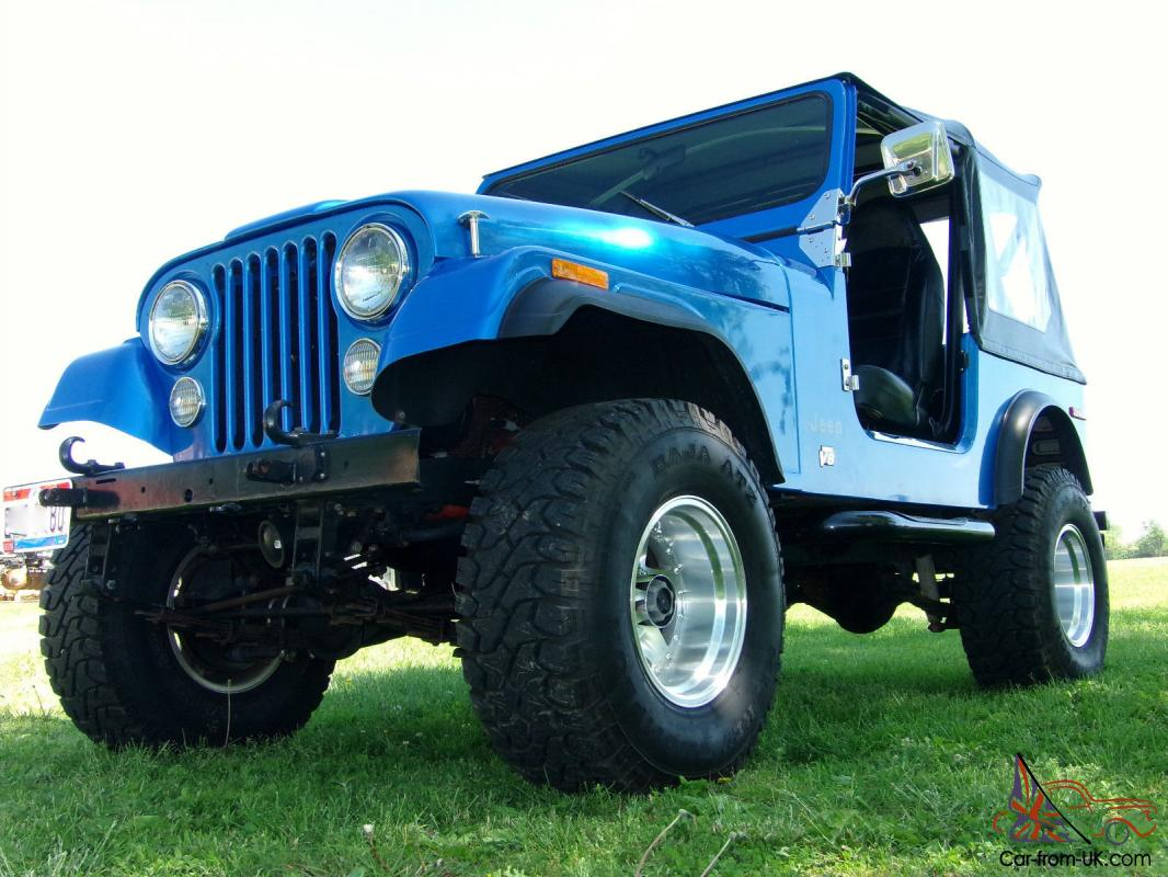 1980 Jeep Cj7 Vortec 350 V8 5 Speed 4 Wheel Disc Mickey Thompson 1955 Ford F100 With Thompsons 33x1250 Tires