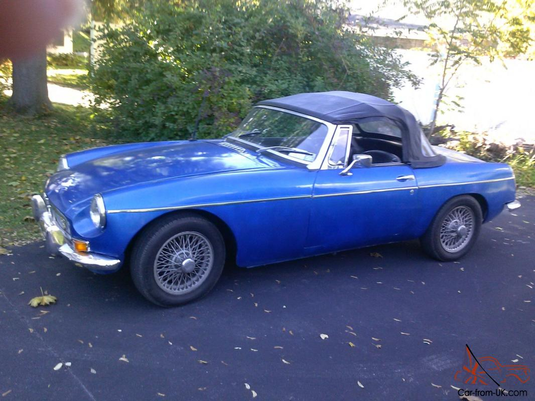 1963 Mgb Roadsterbright Blueolder Restorationnice Driverneeds 1972 Mg Midget Ignition Wiring Diagram Misc Work