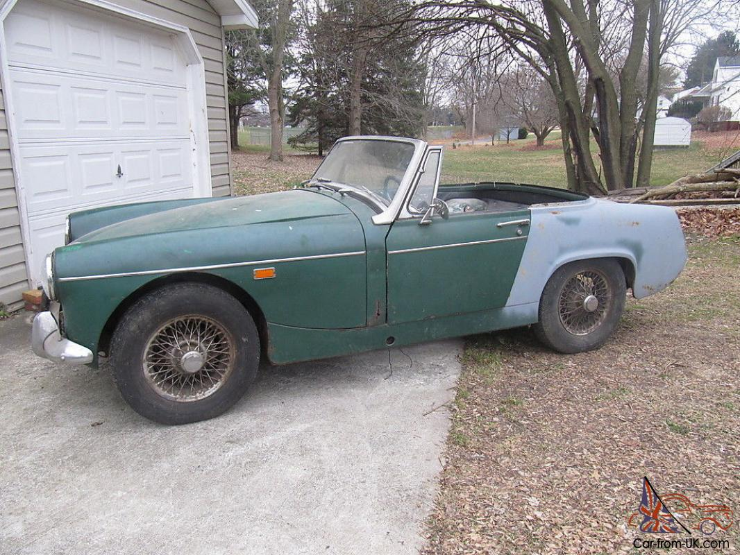 MG Midget, 1969, stalled restoration, extra parts, great project car