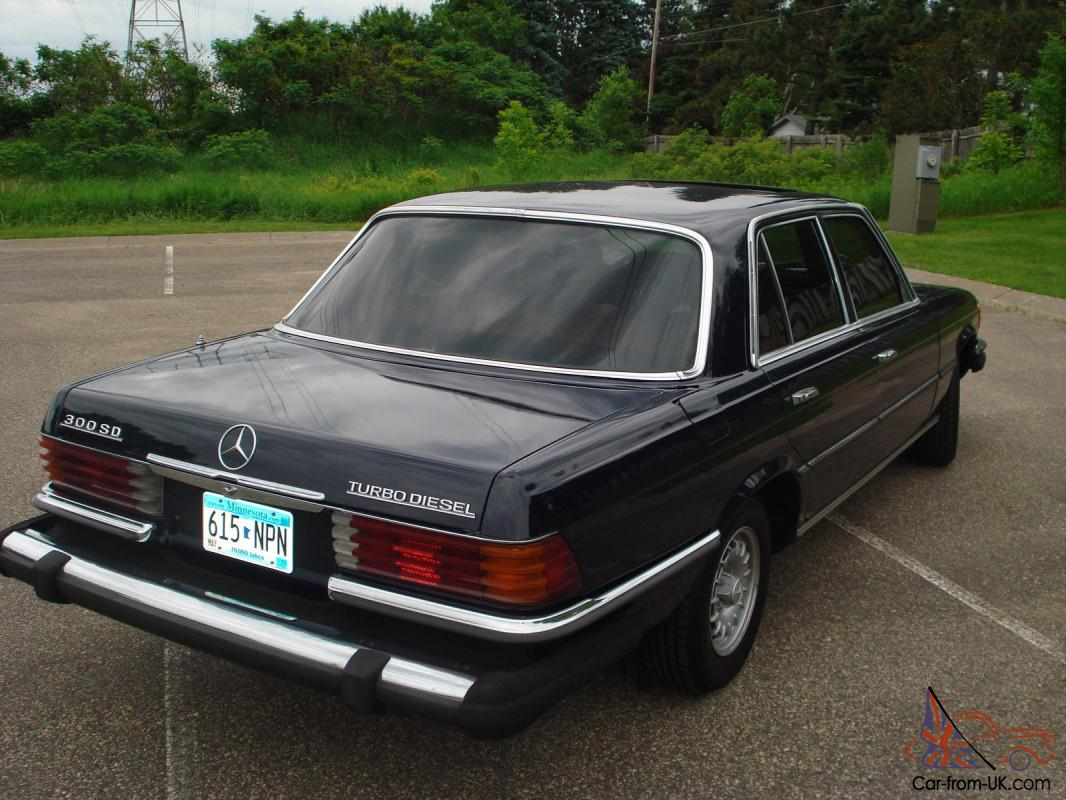 Mercedes Benz 300SD RARE W116 Turbo Diesel 78K miles Sunroof