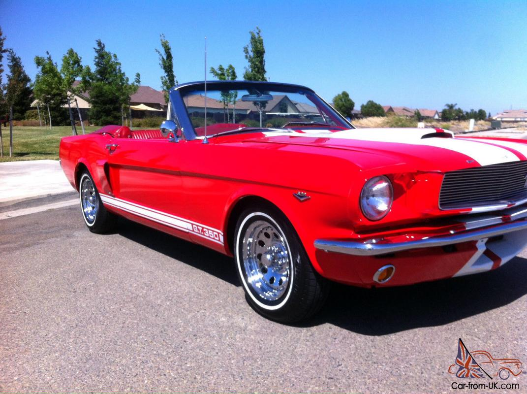 1966 65 ford mustang convertible 302 v8 shelby g t 350 power top restored. Black Bedroom Furniture Sets. Home Design Ideas
