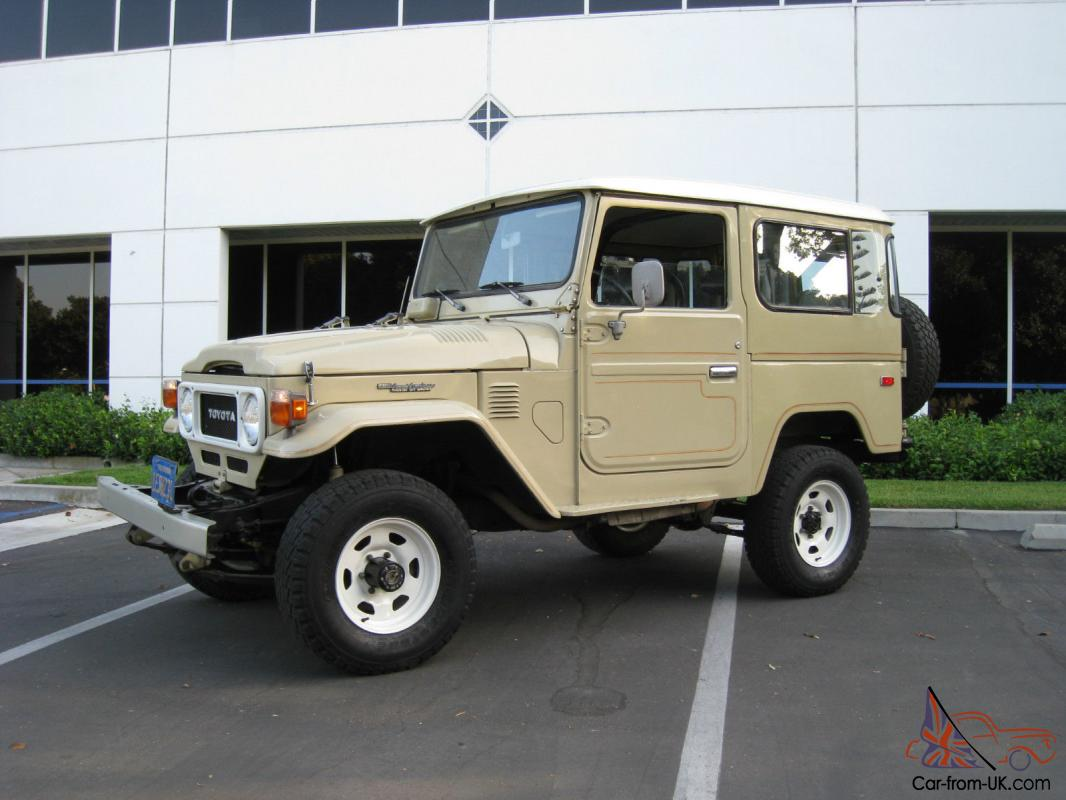 1982 toyota land cruiser fj40 landcruiser 4wd fj 40 california original 4x4. Black Bedroom Furniture Sets. Home Design Ideas