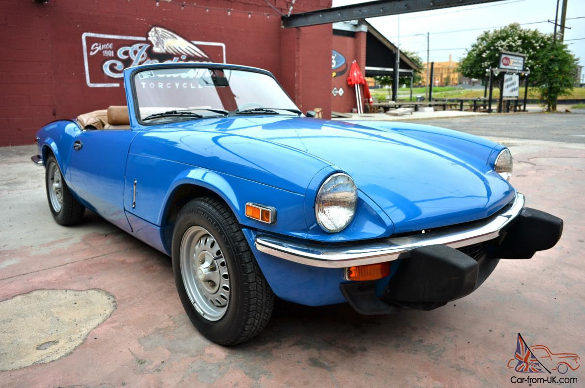 1978 triumph spitfire 1500 classic british convertible roadster in pageant blue. Black Bedroom Furniture Sets. Home Design Ideas