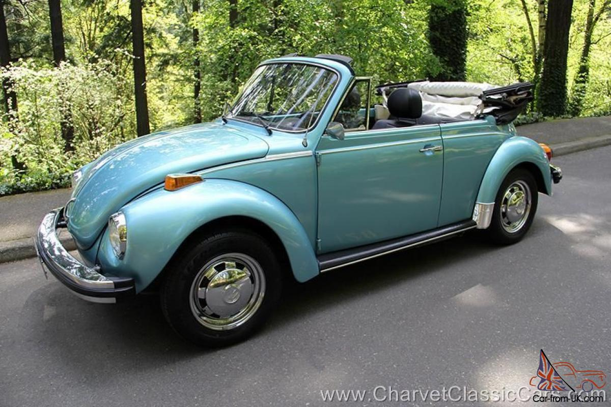 1979 vw super beetle convertible 43 000 miles beautiful see video. Black Bedroom Furniture Sets. Home Design Ideas