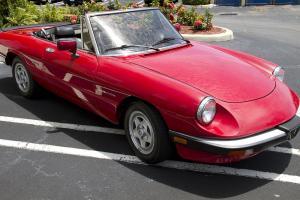 1986 Alfa Romeo Spider Convertible 2-Door Red on Black