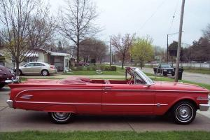 1963 MERCURY COMET CONVERTIBLE RARE S-22 RUST FREE BEAUTIFUL CAR