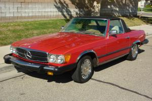 1975 RED 450 SL COVERTIBLE ROADSTER