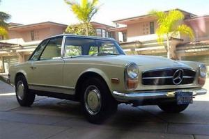 1970 MERCEDES BENZ 280 SL ROADSTER RARE CLASSIC SO.CALIFORNIA CAR CREAM &TAN!
