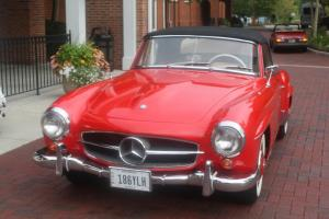 1959 Mercedes Benz 190SL Roadster Red over Tan Ready to Drive M121 W121