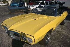 1969 FIREBIRD CONVERTIBLE 400 MOTOR AUTOMATIC BUCKET SEATS NEW TRANSMISSINN Photo