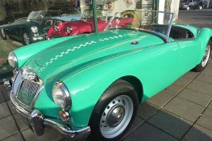 MGA ROADSTER, UK Car in Tyrolite green