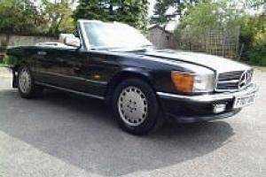 Mercedes Benz 420 SL, 1988. Black with Cream Leather interior.