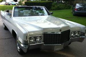 1970 Cadillac DeVille ALL ORGINAL 52K MILES CONVERTIBLE TRIPLE WHITE