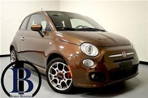 2013 FIAT 500 SPORT LOADED LTHR PWR BEATS BY DRE ROOF LIKE NEW FREE SHIPPING