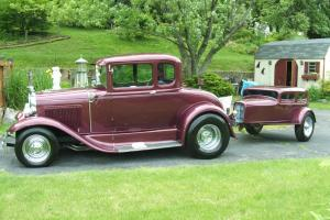 1930 FORD Model A Street Rod With Matching Trailer