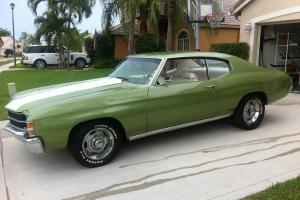 1971 Chevy Chevelle, Numbers Matching