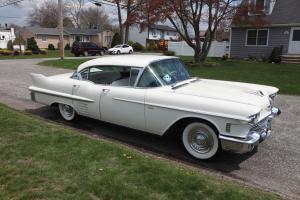 1958 Cadillac Sedan DeVille Base 4DR HT White Survivor Caddy