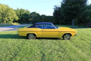 1969 Chevelle Daytona Yellow Fully Restored Show Car SS Trim & Hood