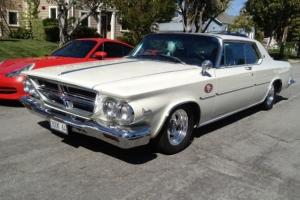 1964 CHRYSLER 300K Series, Pearl White with Black Interior, Beautiful Condition