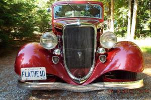 1934 Ford STEEL, 3-Window Coupe, V-8 Flat Head, Hot Rod. Rat Rod. Ex- Show Car.