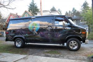 Custom survivor Star Trek muraled Boogie Van