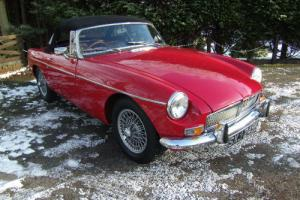 1971 MG B Roadster in Tartan Red